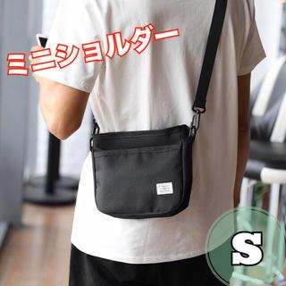 ショルダーバッグ サコッシュ ボディ バッグ ストリート 男女兼用 ブラック S(ショルダーバッグ)