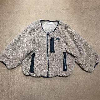 patagonia - 美品ファーストダウン130ベージュブラウンボアブルジップジャケット完売