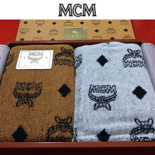 エムシーエム(MCM)のMCM フェイスタオル 新品 エムシーエム 2枚セット ハンドタオル (ハンカチ/ポケットチーフ)