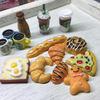スターバックスコーヒー(Starbucks Coffee)の*03*ミニチュア☆ドールハウス☆ルルベちゃん☆スタバ☆ブライス☆ドリンク*パン(その他)