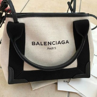 BALENCIAGA BAG - バレンシアガ ネイビー カバス トートバック Sサイズ