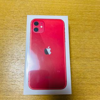 iPhone - 【新品・未開封】iPhone11 64GB レッド SIMロック解除申請済み