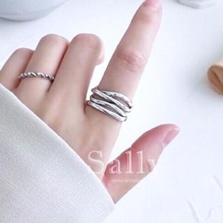 トゥデイフル(TODAYFUL)のラスト1点sale【silver925】ワイド4連リング シルバー925(リング(指輪))