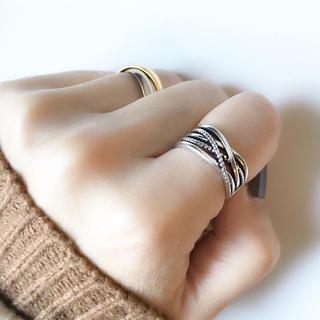 トゥデイフル(TODAYFUL)の再販【silver925】ワイドマルチライン クロス リング シルバー925(リング(指輪))