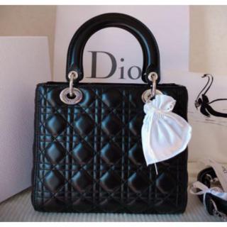 Dior - ◆※綺麗なお品です。一度仕様の美品レディディオール ブラック ミディアム