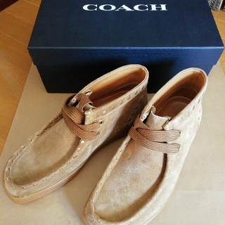 コーチ(COACH)の正規店購入 コーチ ワラビー モカシンブーツ 新品、箱付き(ブーツ)