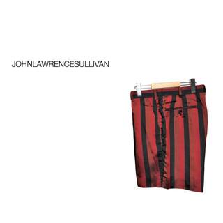 ジョンローレンスサリバン(JOHN LAWRENCE SULLIVAN)のJOHN LAWRENCE SULLIVAN ストライプ タック ショーツ(ショートパンツ)