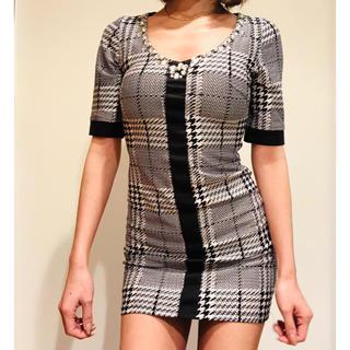 dazzy store - デイジーストア❤︎モノトーンチェックワンピ        ドレス