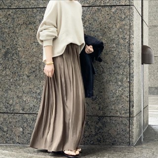 L'Appartement DEUXIEME CLASSE - AP STUDIO サテンギャザースカート カーキ