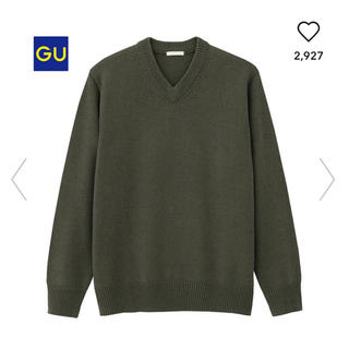 GU - GU ラムブレンドVネックセーター