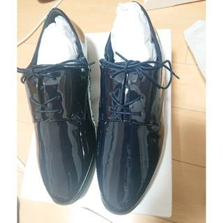 ランダ(RANDA)のRANDA ランダ レースアップエナメルシューズ 紺 L(ローファー/革靴)