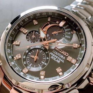 セイコー(SEIKO)の【限定1個】ダイヤ付!海外セイコー上級コーチュラ パーペチュアル クロノグラフ(腕時計(アナログ))