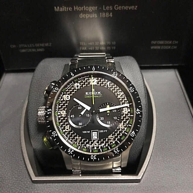 EDOX - エドックス EDOX 腕時計 10305 3NVM NV クロノラリーワンの通販