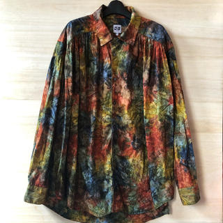 NEPENTHES - 19AW AIE Painter Shirt - Abstract Print