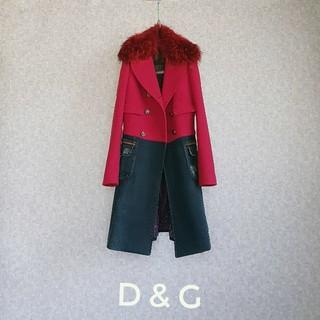 DOLCE&GABBANA - 超高級 希少 ドルチェ&ガッバーナ 一級品リアルファー 豪華モダンデザインコート