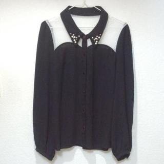 INGNI - 美品 イング ビジュー シフォン シースルー ブラウス 春物 春服