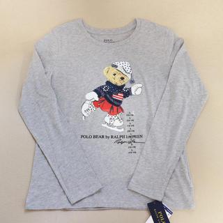 POLO RALPH LAUREN - 【新品】ラルフローレン ポロベア ロンT 長袖 キッズ ガール 灰色 グレー