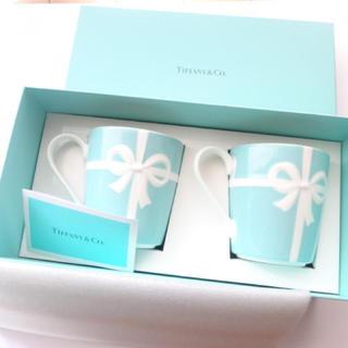 Tiffany & Co. - 新品未使用☆ ティファニー TIFFANY&Co ブルーボックス マグカップ2個