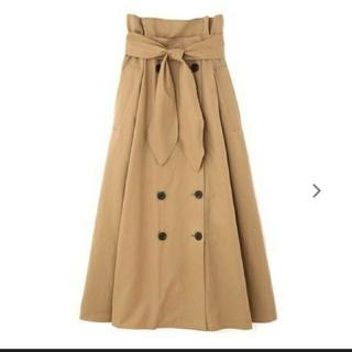 アドーア(ADORE)の美品●アドーアADOREADORE●クリアコットンベルト付きスカート¥42120(ロングスカート)