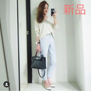 プラステ(PLST)の✨新品✨プラステ ウォームリザーブパンツ 希少 アイスブルー M(カジュアルパンツ)