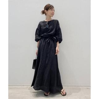 L'Appartement DEUXIEME CLASSE - Linen Madam Dress ブラック L'Appartement