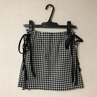 evelyn - evelyn サイド編み上げミニタイトスカート