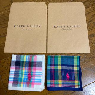 Ralph Lauren - 【新品 未使用】ラルフローレン タオルハンカチ 2枚