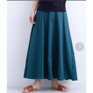merlot - merlot タックフレアロングスカート