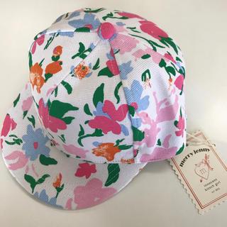 メリージェニー(merry jenny)のメリージェニー 花柄 マルチカラー キャップ 帽子 フリーサイズ  (キャップ)