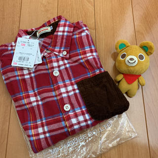 mikihouse - 10340円★ミキハウス★赤チェックシャツ★胸ポケット付き★新品★