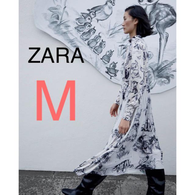 ZARA(ザラ)の新品!ZARA ワンピース ディズニー レディースのワンピース(ロングワンピース/マキシワンピース)の商品写真