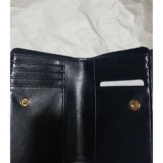 シマムラ(しまむら)のプチプラのあや 新品未使用 二つ折り財布 ブラック(折り財布)