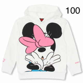 ベビードール(BABYDOLL)の新品 BABYDOLL☆100 ミニーちゃん パーカー ベビードール(Tシャツ/カットソー)