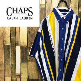 Ralph Lauren - 【激レア】チャップスラルフローレン☆ロゴ入り半袖マルチストライプシャツ 90s