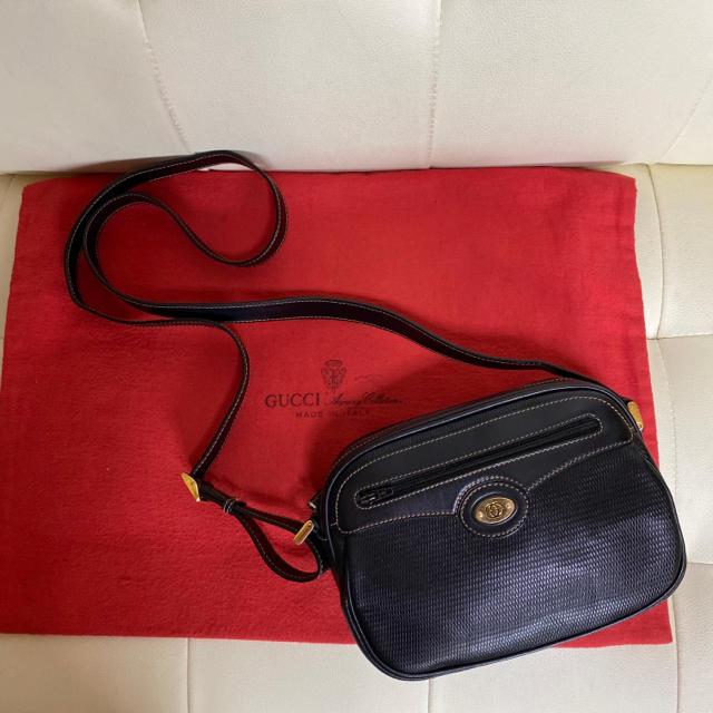 オメガ時計セールスーパーコピー,Gucci-貴重 未使用 GUCCIオールド グッチ ショルダー バッグ ポシェット 黒の通販