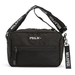 ミルクフェド(MILKFED.)の【新品】ミルクフェド ショルダーバッグ ブラック ショルダーロゴ(ショルダーバッグ)