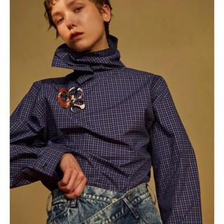 LE CIEL BLEU - IRENE バックノットチェックシャツ