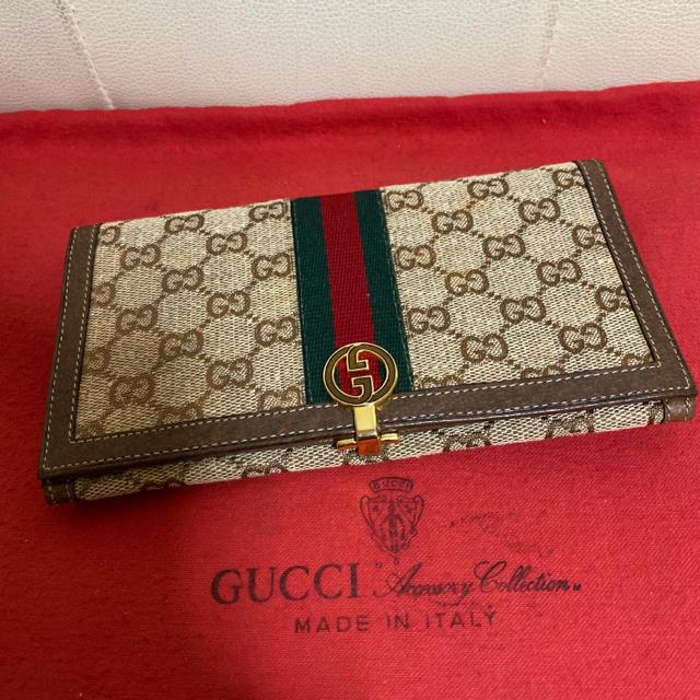 カルティエ 掛け 時計 スーパー コピー | Gucci - 貴重 未使用 GUCCI オールド グッチ シェリーライン 折れ 長 財布の通販