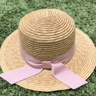 エイミーイストワール(eimy istoire)のカンカン帽(麦わら帽子/ストローハット)