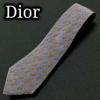 ディオール(Dior)のディオール タグデザイン グレー ネクタイ A103-M01(ネクタイ)