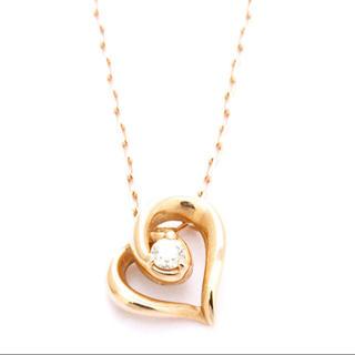 4℃ - ヨンドシー 1P ダイヤモンド ハート モチーフ 10金ピンクゴールド