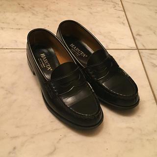 ハルタ(HARUTA)のレディース ハルタ ローファー ブラック 24.5cm(ローファー/革靴)