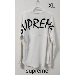 Supreme - supreme  白  ロングTシャツ  カットソー