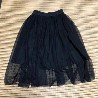 GU - ジーユー チュールスカート 黒 110センチ