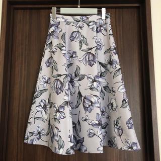 JUSGLITTY - 新品同様♡JUSGLITTY アートフラワープリントスカート