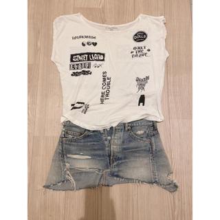DIESEL - ディーゼルTシャツ&デニムミニスカート