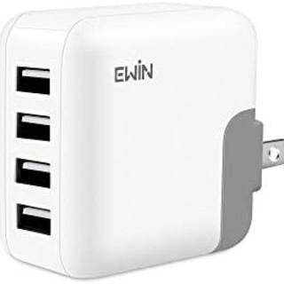 Ewin USB 充電器 4ポート 超小型 急速充電 acアダプタPSE認証済み