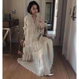 Ameri VINTAGE - Ameri vintage シャーリング プリーツドレス