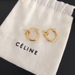 celine - Celine ノット スモール フープ ピアス