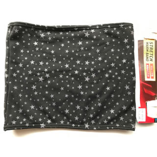 シマムラ(しまむら)の新品 裏起毛あったかいストレッチ腹巻 黒色 星柄 ウエスト74〜94cm (その他)